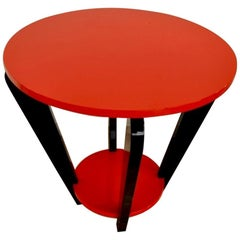 Fire Red Design Side Table