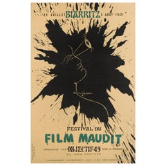 """Festival du Film Maudit"" Original French Poster"