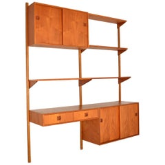 1960s Vintage Danish PS Wall Unit / Bookcase / Cabinet / Desk