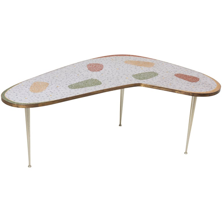 Vintage Boomerang Coffee Table By Berthold Müller For
