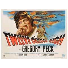 """Twelve O'Clock High"" Original British Film Poster"