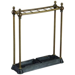 Late 19th Century Victorian Brass Stick Stand