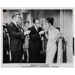"""Breakfast at Tiffany's"" Original US Black and White Production Still"