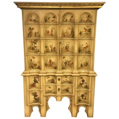 Edwardian Period Chinoiserie Antique Cocktail Cabinet