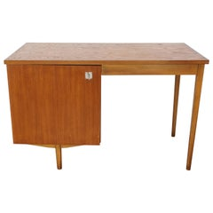 "Midcentury Dutch Design ""Combineurop"" Teak Wooden Desk"