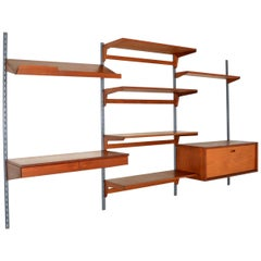 1960s Vintage Danish Wall Unit / Bookcase / Desk by Kai Kristiansen