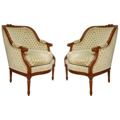 Louis XVI Style Barrelback Bergeres