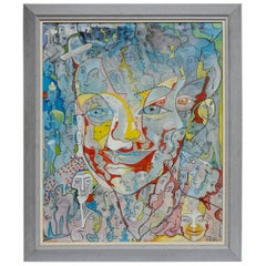 Painting Oil on Canvas Signed Alain Rothstein, 1996