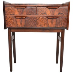 Danish Modern Tall Rosewood Entry Chest