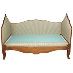 19th Century Walnut and Upholstered Daybed