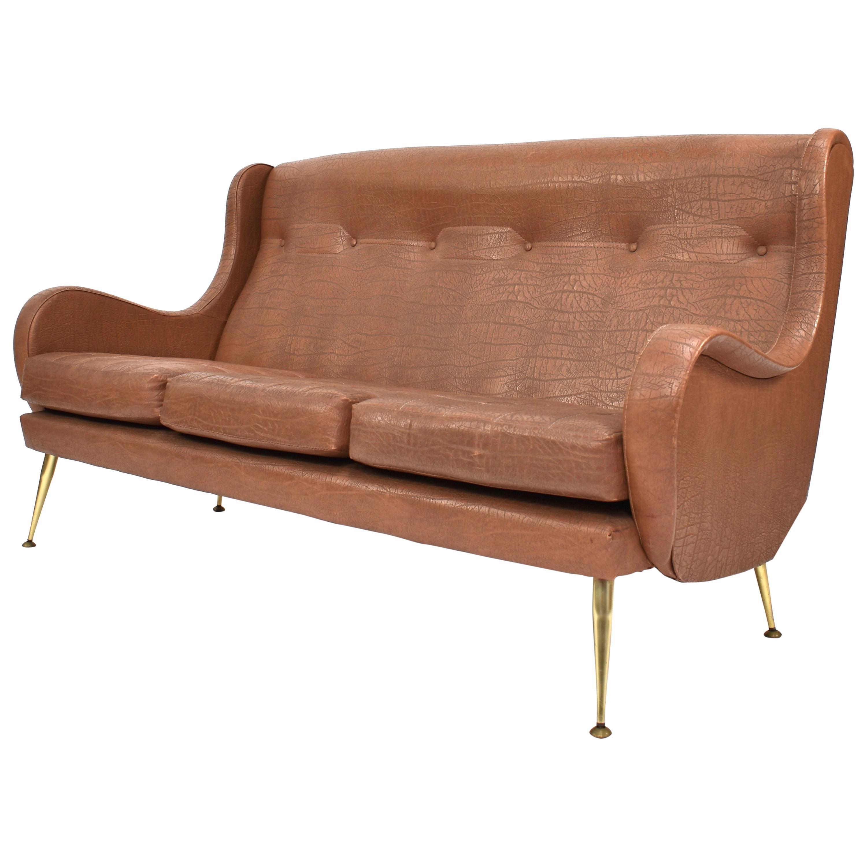 Merveilleux ISA Bergamo Sofa By Aldo Morbelli, Italy, 1950s