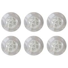 R. Lalique Marienthal Set of Six Dessert Plates