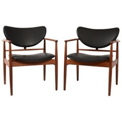 Finn Juhl by Niels Vodder, Pair of Armchairs, Model NV48
