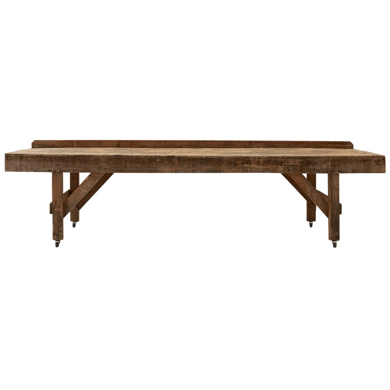 20th Century Wooden Work Table For Sale