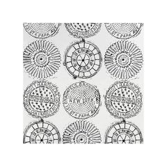 NYC MANHOLE on Smooth WallPaper made from rubbings of vintage covers in NY