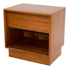 Danish Teak Nightstand / End Table