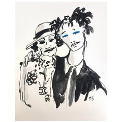 Coco Chanel and Willow Smith. Gouache and Watercolor on Archival Paper