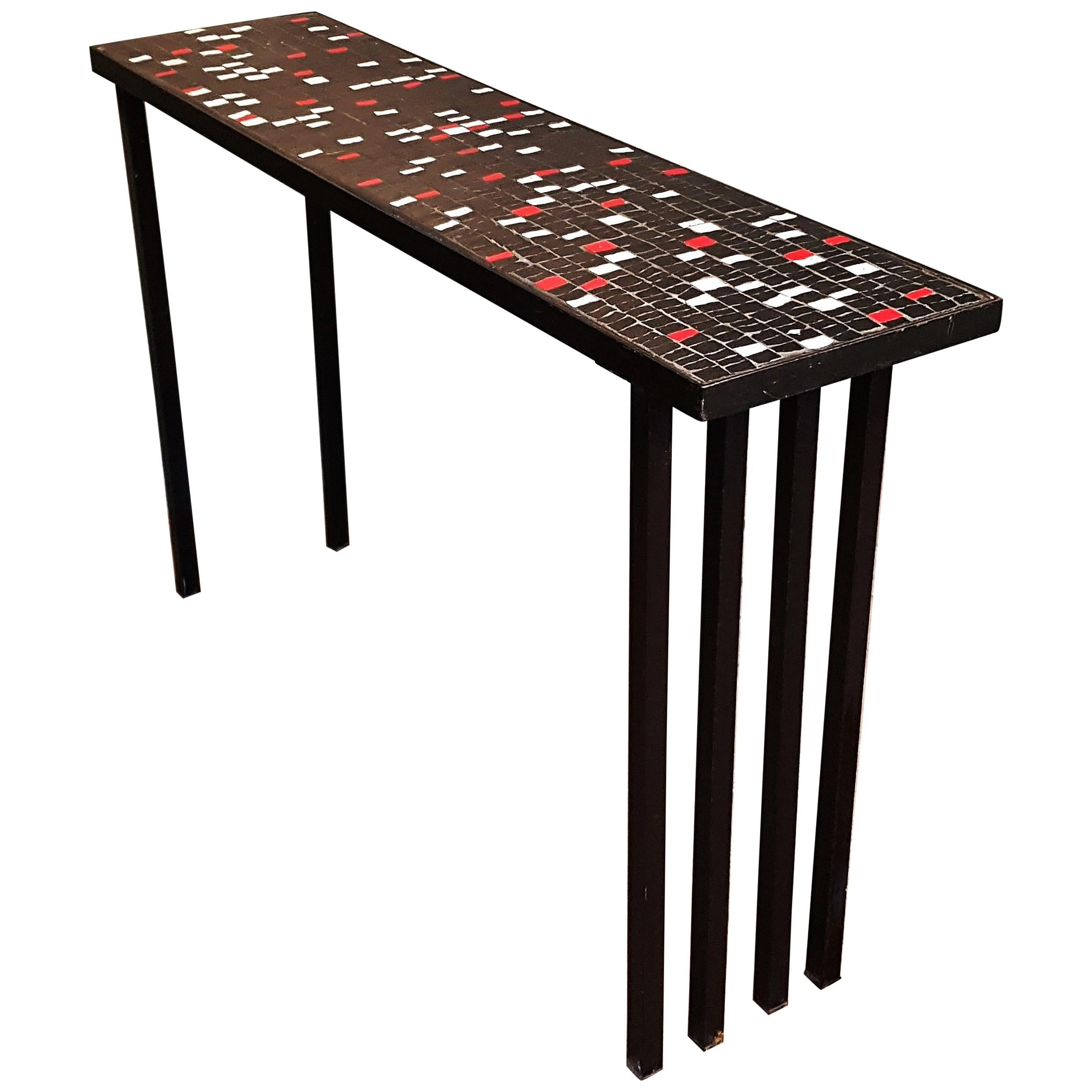 Merveilleux Mosaic Side Table For Sale