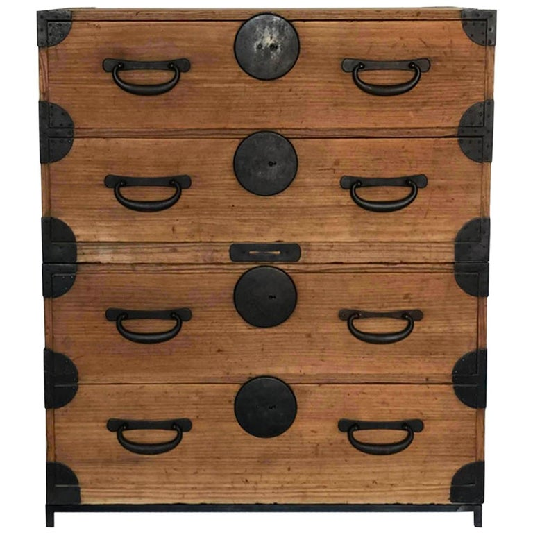 19th Century Japanese Tansu, Chest of Drawers