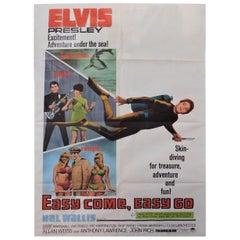Easy Come, Easy Go Elvis Presley 1967 Original Theatrical Poster