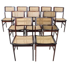 Set of Ten Rosewood Brazilian Chair