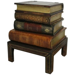Maitland-Smith Faux Book End Table Occasional Table