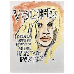 Vogue #1, Watercolor on Archival Paper, 2016