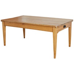 19th Century Country French Pine Farm Table