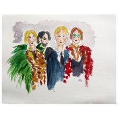 Gucci Aficionados, Watercolor on Archival Paper, 2016