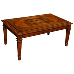 Neoclassical Inlaid Coffee Table