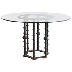 Wrought Iron Moorish Column Garden Table