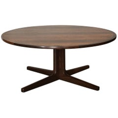 Impeccable Hans C. Andersen Danish Rosewood Round Coffee Table