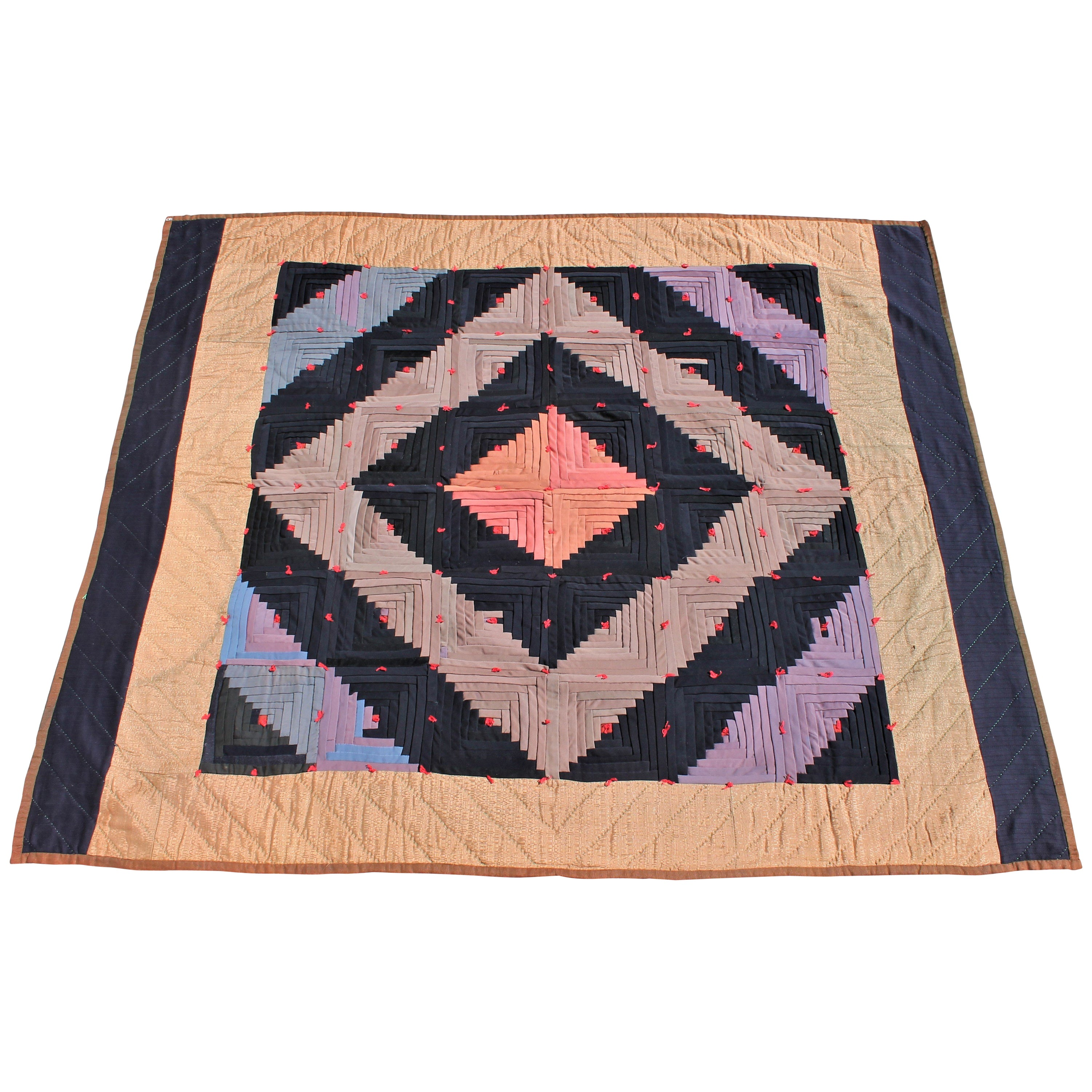 Log Cabin Tied Quilt