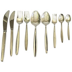 Georg Jensen Sterling Silver 'Cypress' Set of 108 Pieces for 12 Person
