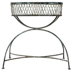 French Wrought Iron Jardinière or Planter, circa 1900