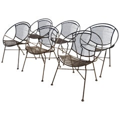 Set of Six Maurizio Tempestini for Salterini Patio Chairs