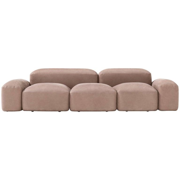 Lapis Sofa in Leather by Emanuel Gargano & Anton Cristell