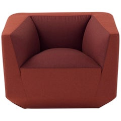 Panis Armchair in Red Fabric by Emanuel Gargano & Anton Cristell