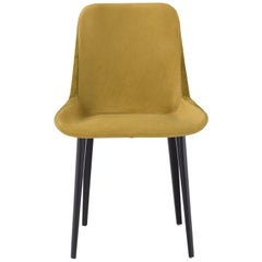 Panis Chair in Yellow Melange Leather by Emanuel Gargano & Anton Cristell