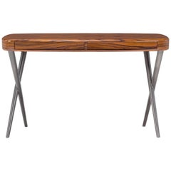 Vanity with Rosewood Top and Lacquered Metal Base by Amura Lab