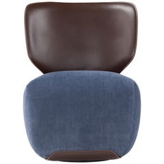 Noa Armchair in Cuoio and Velvet by Amura Lab