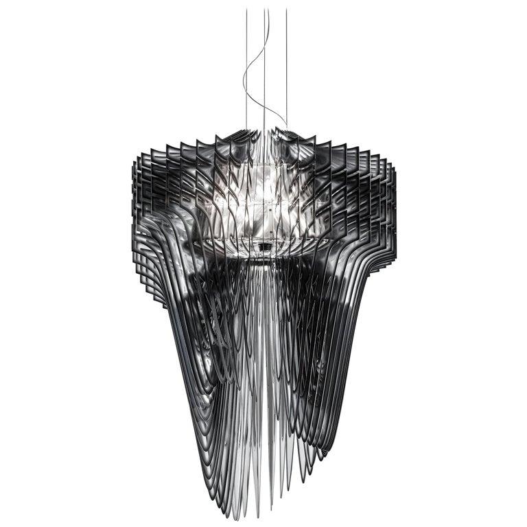 SLAMP Aria Extra Large Pendant Light in Black Shade by Zaha Hadid