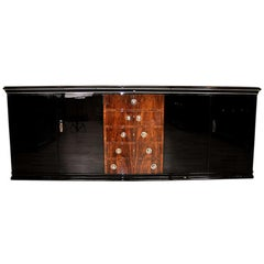 Large Art Deco Sideboard with Walnut Drawers
