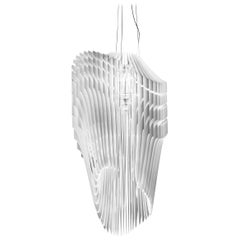 SLAMP Avia Extra Large Pendant Light in White by Zaha Hadid