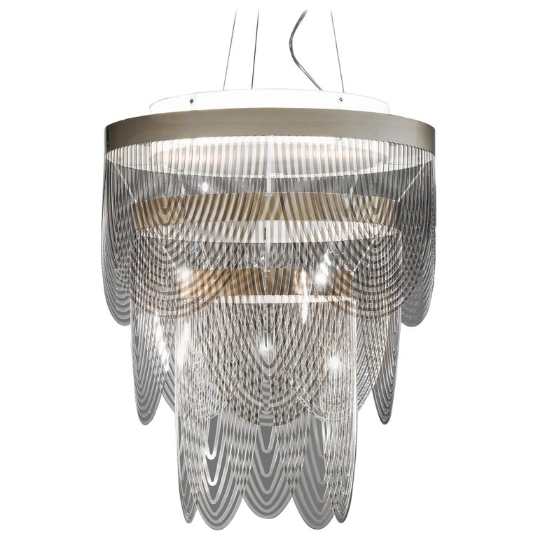 Slamp ceremony small pendant light in prisma by bruno rainaldi for slamp ceremony small pendant light in fum by bruno rainaldi aloadofball Images