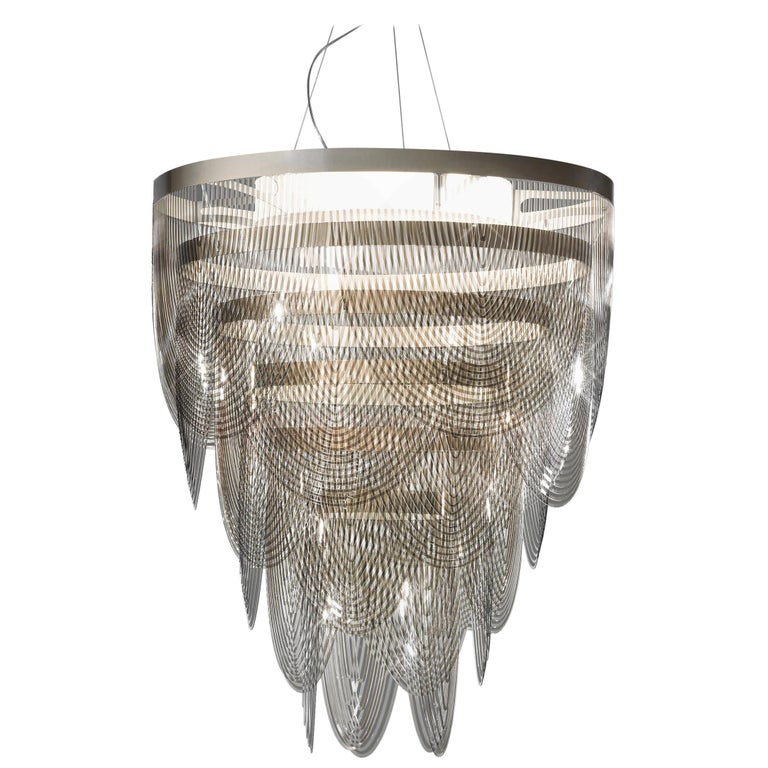 SLAMP Ceremony Large Pendant Light in Fumé by Bruno Rainaldi