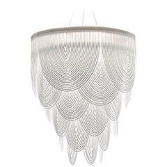 SLAMP Ceremony Large Pendant Light in White by Bruno Rainaldi