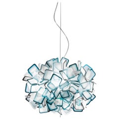 SLAMP Clizia Small Pendant Light in Blue by Adriano Rachele