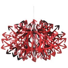 SLAMP Devil Pendant Light in Red by Nigel Coates