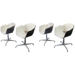 Set of Four 'Rondo' Meeting Chairs by Bene